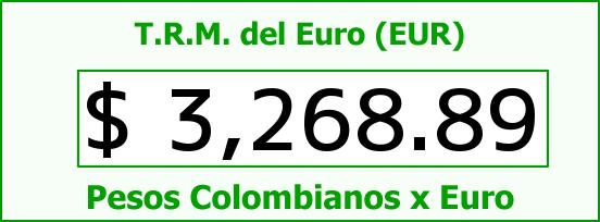 T.R.M. del Euro para hoy Miércoles 18 de Noviembre de 2015