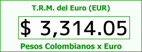 T.R.M. del Euro para hoy Miércoles 19 de Agosto de 2015