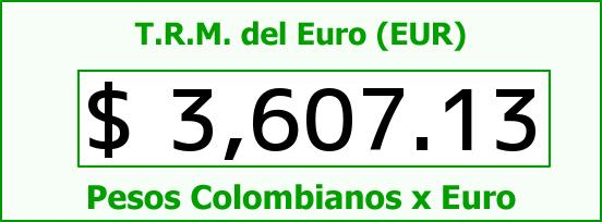 T.R.M. del Euro para hoy Miércoles 2 de Marzo de 2016