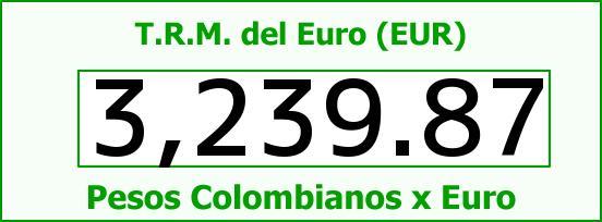 T.R.M. del Euro para hoy Miércoles 20 de Julio de 2016