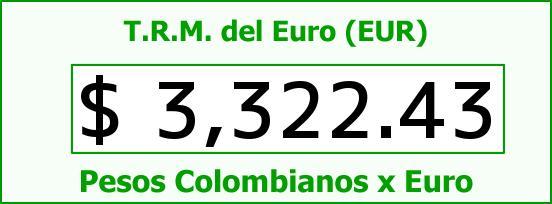T.R.M. del Euro para hoy Miércoles 21 de Octubre de 2015