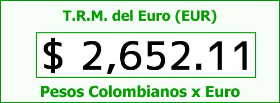 T.R.M. del Euro para hoy Miércoles 22 de Abril de 2015