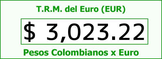 T.R.M. del Euro para hoy Miércoles 22 de Julio de 2015