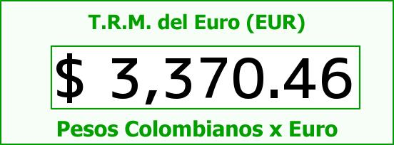 T.R.M. del Euro para hoy Miércoles 22 de Junio de 2016
