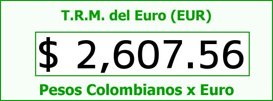 T.R.M. del Euro para hoy Miércoles 22 de Octubre de 2014