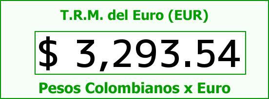 T.R.M. del Euro para hoy Miércoles 24 de Agosto de 2016