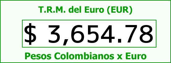 T.R.M. del Euro para hoy Miércoles 24 de Febrero de 2016