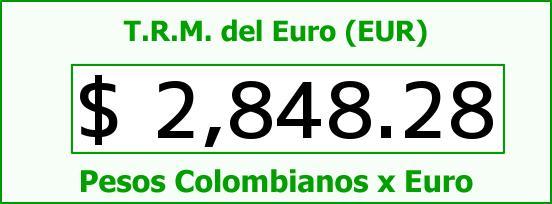 T.R.M. del Euro para hoy Miércoles 24 de Junio de 2015