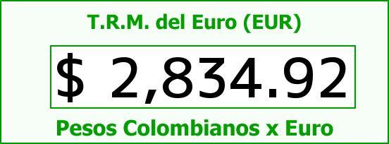 T.R.M. del Euro para hoy Miércoles 25 de Febrero de 2015