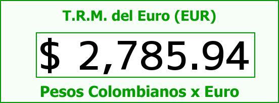 T.R.M. del Euro para hoy Miércoles 25 de Marzo de 2015