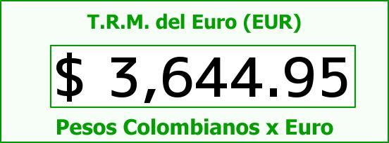 T.R.M. del Euro para hoy Miércoles 26 de Agosto de 2015