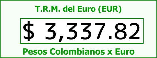 T.R.M. del Euro para hoy Miércoles 27 de Abril de 2016