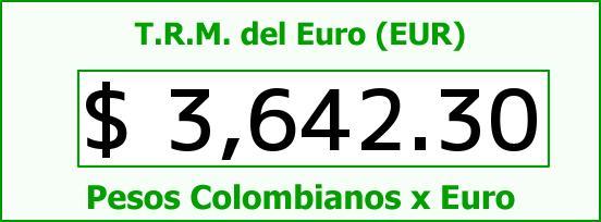 T.R.M. del Euro para hoy Miércoles 27 de Enero de 2016