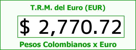 T.R.M. del Euro para hoy Miércoles 27 de Mayo de 2015