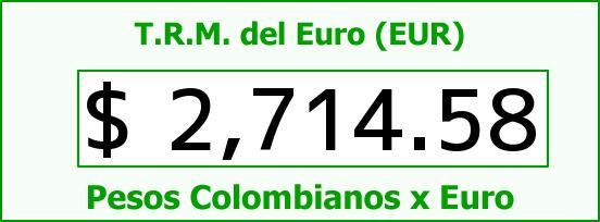 T.R.M. del Euro para hoy Miércoles 28 de Enero de 2015