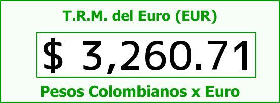 T.R.M. del Euro para hoy Miércoles 28 de Octubre de 2015