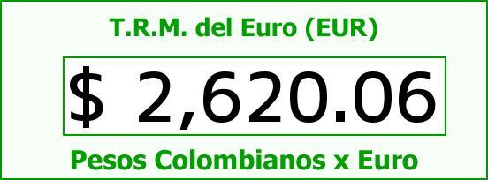T.R.M. del Euro para hoy Miércoles 29 de Octubre de 2014