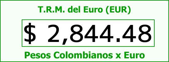 T.R.M. del Euro para hoy Miércoles 3 de Diciembre de 2014