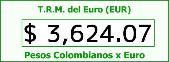 T.R.M. del Euro para hoy Miércoles 3 de Febrero de 2016