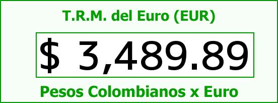 T.R.M. del Euro para hoy Miércoles 30 de Diciembre de 2015