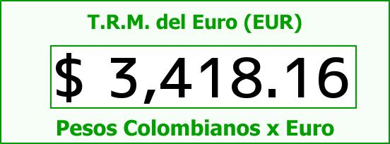T.R.M. del Euro para hoy Miércoles 30 de Marzo de 2016
