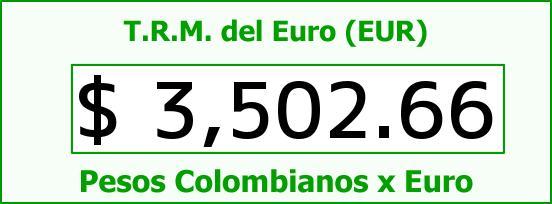T.R.M. del Euro para hoy Miércoles 30 de Septiembre de 2015