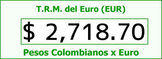 T.R.M. del Euro para hoy Miércoles 4 de Febrero de 2015