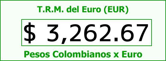 T.R.M. del Euro para hoy Miércoles 4 de Mayo de 2016