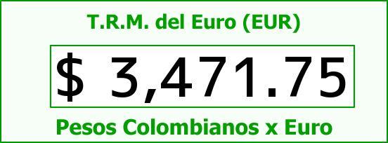 T.R.M. del Euro para hoy Miércoles 6 de Enero de 2016