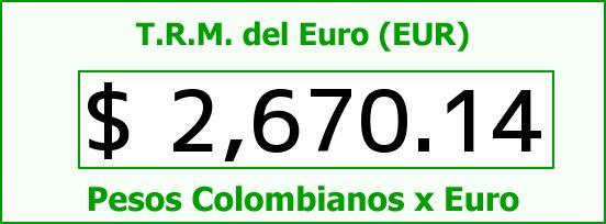 T.R.M. del Euro para hoy Miércoles 6 de Mayo de 2015