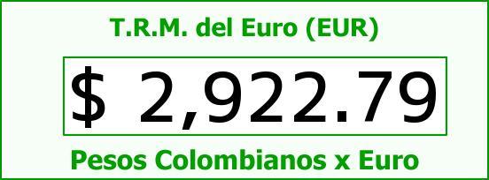 T.R.M. del Euro para hoy Miércoles 7 de Enero de 2015