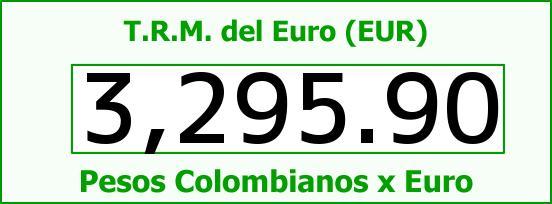 T.R.M. del Euro para hoy Miércoles 7 de Septiembre de 2016