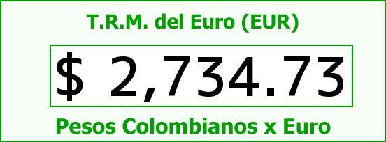 T.R.M. del Euro para hoy Miércoles 8 de Abril de 2015