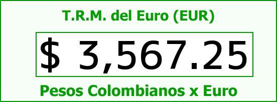 T.R.M. del Euro para hoy Miércoles 9 de Diciembre de 2015