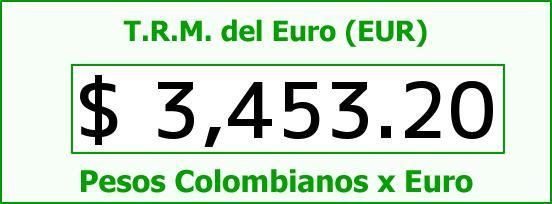 T.R.M. del Euro para hoy Miércoles 9 de Marzo de 2016
