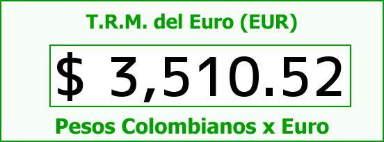 T.R.M. del Euro para hoy Miércoles 9 de Septiembre de 2015