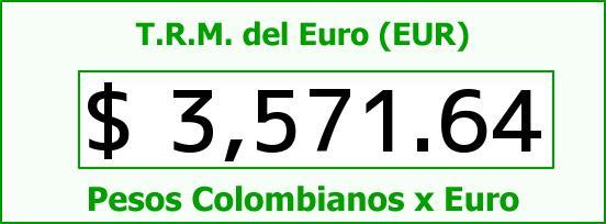 T.R.M. del Euro para hoy Sábado 12 de Marzo de 2016
