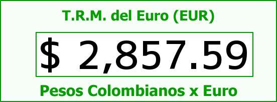 T.R.M. del Euro para hoy Sábado 13 de Junio de 2015