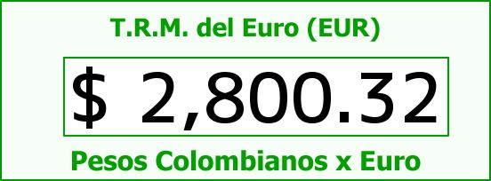 T.R.M. del Euro para hoy Sábado 14 de Marzo de 2015