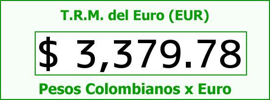T.R.M. del Euro para hoy Sábado 16 de Abril de 2016
