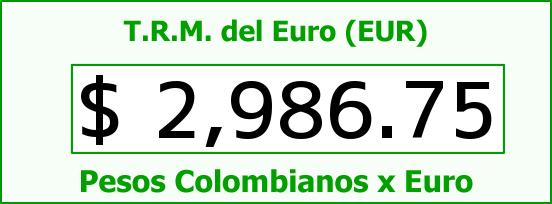 T.R.M. del Euro para hoy Sábado 18 de Julio de 2015