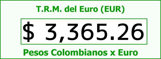 T.R.M. del Euro para hoy Sábado 18 de Junio de 2016