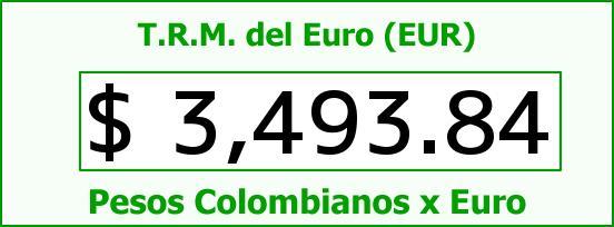 T.R.M. del Euro para hoy Sábado 19 de Marzo de 2016