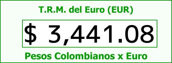 T.R.M. del Euro para hoy Sábado 2 de Enero de 2016