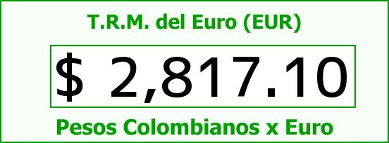 T.R.M. del Euro para hoy Sábado 20 de Diciembre de 2014