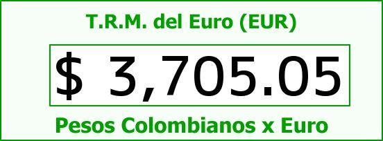 T.R.M. del Euro para hoy Sábado 20 de Febrero de 2016