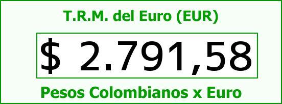 T.R.M. del Euro para hoy Sábado 21 de Febrero de 2015