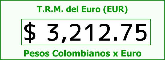 T.R.M. del Euro para hoy Sábado 24 de Octubre de 2015