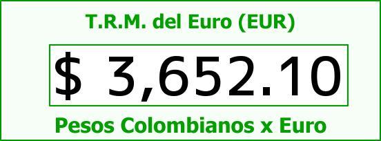T.R.M. del Euro para hoy Sábado 27 de Febrero de 2016