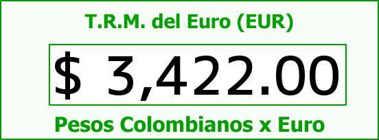 T.R.M. del Euro para hoy Sábado 3 de Octubre de 2015